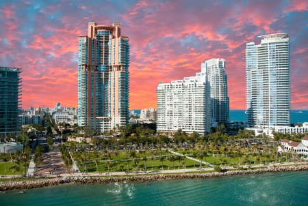 florida landscape: Miami Beach Buildings and Colors, Florida, U S A