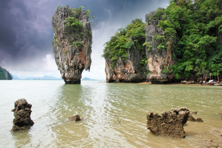 Storm over James Bond Island in Thailand photo
