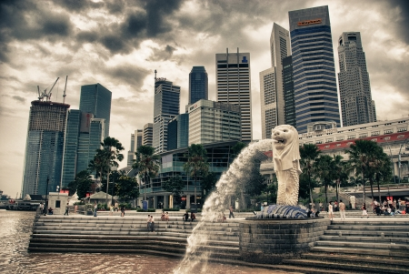 merlion: The Lion, Symbol of Singapore Editorial