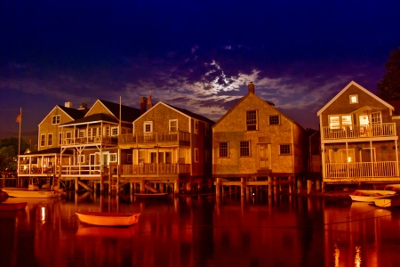 cape cod style: Coast of Nantucket in Massachusetts, U.S.A.