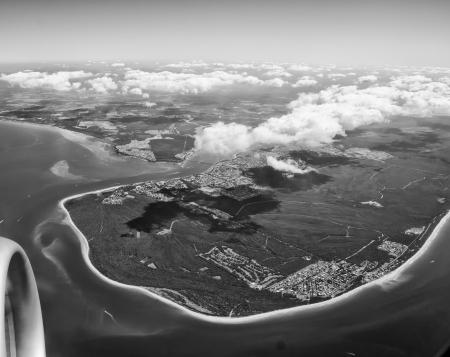 Aerial view of Australian Coastline, Queensland photo