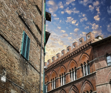 Medieval architecture and buildings - Tuscany, Italy. photo
