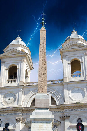 monti: Trinita dei Monti in Rome, Italy