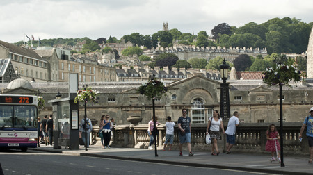 southwest: Bath  is a town in England set in the  countryside of southwest England, known for its natural hot springs and 18th-century Georgian architecture.