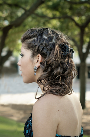dressy: Hair and Make up before prom,