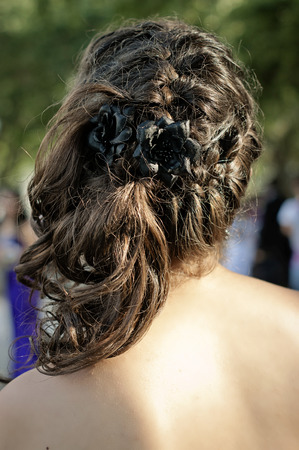corsage: Hair and Make up before prom,