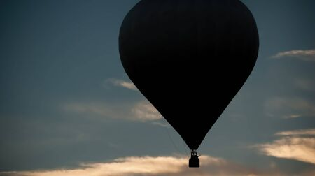 Silhouette of a hot air balloon in 2016 Bristol Ballon Festival