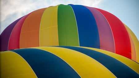 Close-up of a very colorful hot air balloons in 2016 Bristol Ballon Festival