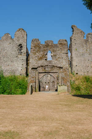 Restormel Castle near Lostwithiel . This is one of the four chief Norman castles of Cornwall.