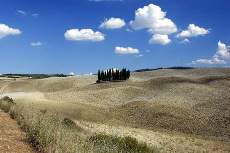 valdorcia: Tuscany landscape of Valdorcia Stock Photo