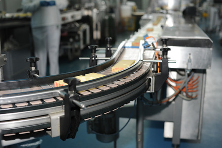 manufacturing plant: dairy industry Stock Photo