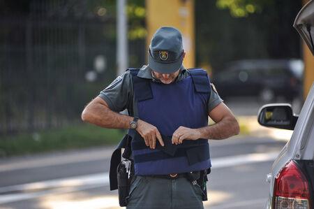 seguridad laboral: cámara de vigilancia de seguridad de la policía