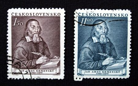 ceska: Stamp of the Czechoslovakia with Jan Amos Komensky