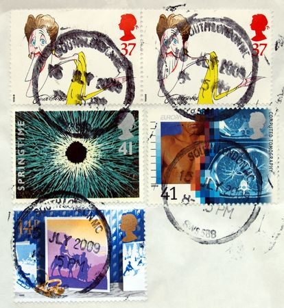 British postage stamps from the United Kingdom (UK) Stock Photo - 5294928