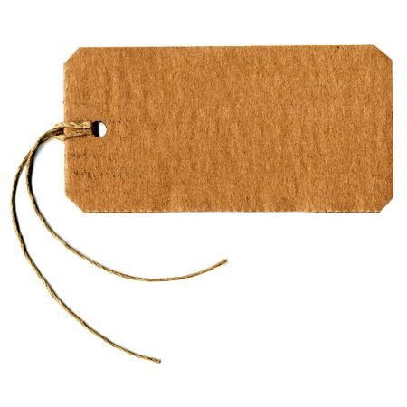 Price tag or address label with string photo