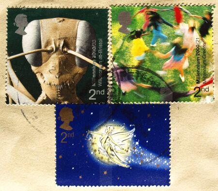 Range of British postage stamps from the UK photo