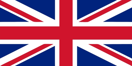 Union Jack - British flag isolated vector illustration Illustration