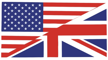 American and British English - icon useful for websites Illustration