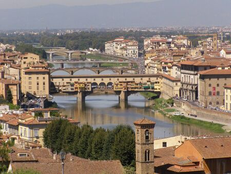 chiantishire: Bridges in Florence Stock Photo