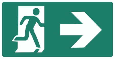 emergency exit icon: emergency exit icon