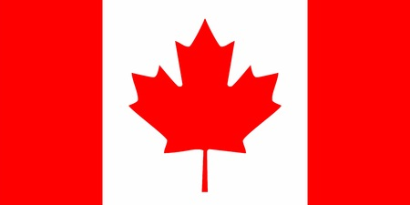 canada: Canada flag Illustration