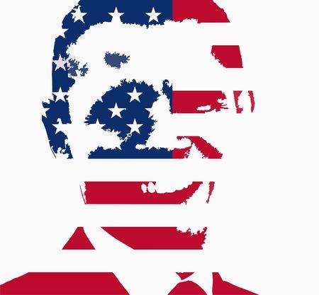 Barack Obama flag face