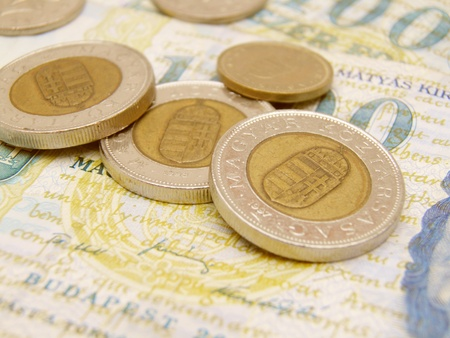 Hungarian Forint currency money - banknotes and coins