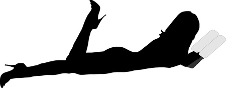 silhouette of a sexy girl  Vector