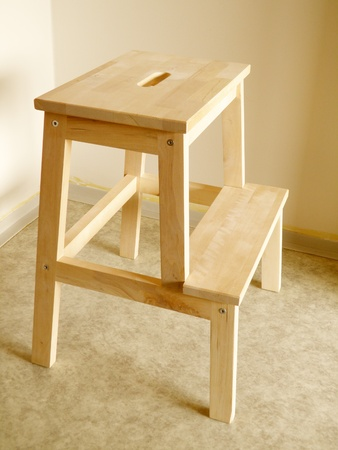 beech wood board step stool
