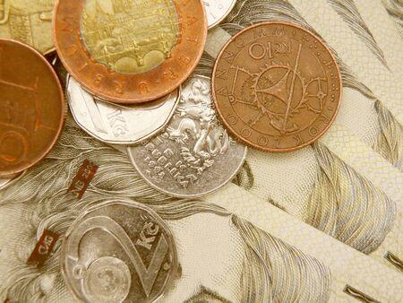 czech republic coin: Czech korunas CZK (legal tender of the Czech Republic) banknotes and coins