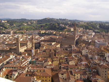 Florence - aerial view from the top of the Cathedral dome (Brunelleschis dome) photo
