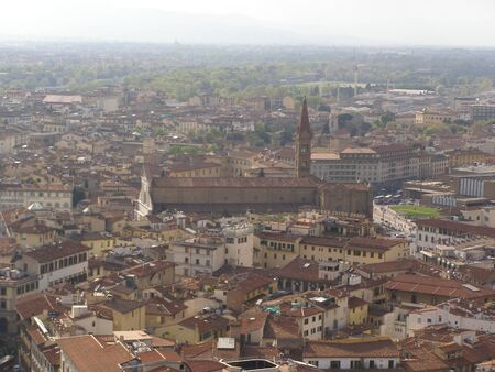 florentine: Florence - aerial view from the top of the Cathedral dome  Brunelleschi