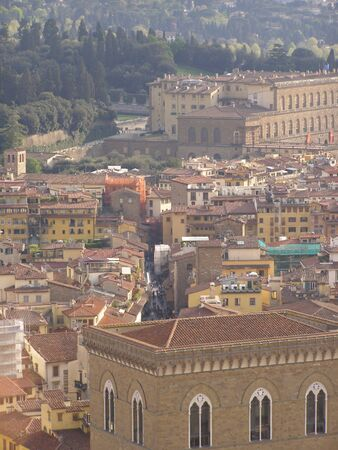 chiantishire: Florence - aerial view from the top of the Cathedral dome (Brunelleschis dome) Stock Photo
