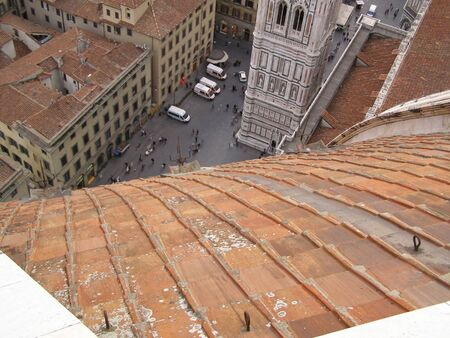 chiantishire: Florence - aerial view from the top of the Cathedral dome  Brunelleschi