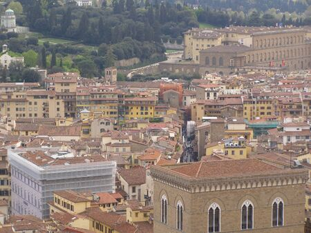 chiantishire: Florence - aerial view from the top of the Cathedral dome  BHrunelleschi
