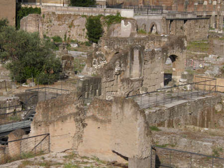 Rome - Trajan's forum and market: a complex of ancient architecture with XV Century additions Stock Photo - 10751561