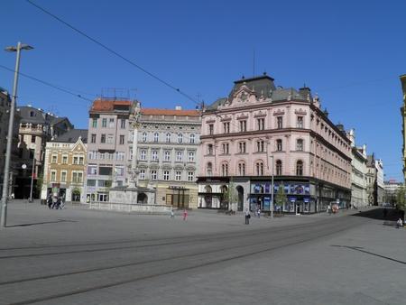 Brno, Freedom Square (namesti Svobody) Stock Photo