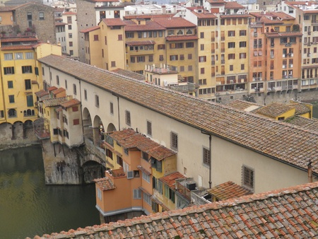 Florence, Ponte Vecchio - bird eye view photo