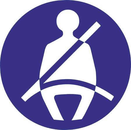 Fasten your belt sign - isolated illustration Illustration