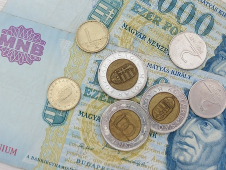 Hungarian Forint  HUF  currency money - banknotes and coins