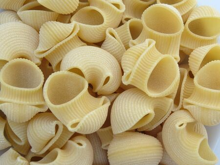 Italian pasta  pipe rigate  useful as a background photo