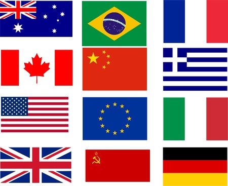 flags - the twelve best selling flags of the world
