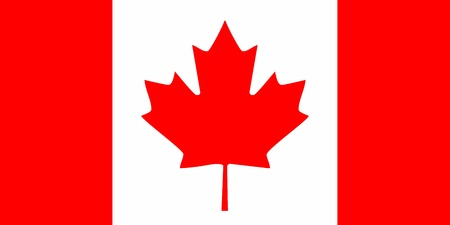 Canada flag icon - isolated vector illustration Vector