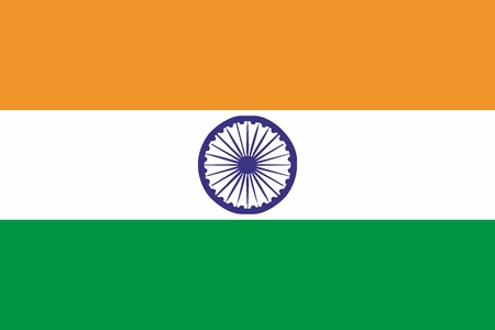 India flag and language icon - isolated vector illustration
