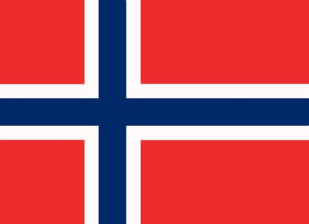 Norwegian flag and language icon - isolated vector illustration Vector