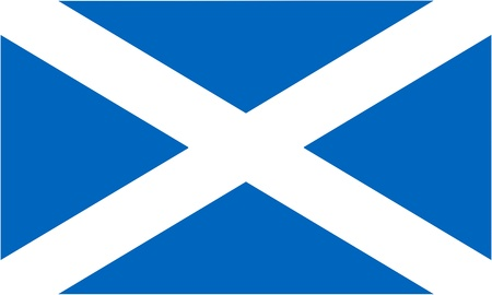 scottish: flag of Scotland (component of the Union Jack) - isolated vector illustration