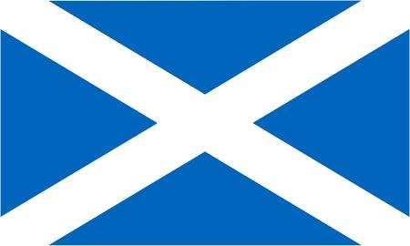 edinburgh: vlag van Schotland (onderdeel van de Union Jack) - geïsoleerde vector illustratie Stock Illustratie