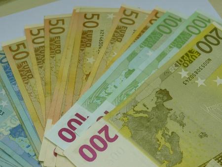 legal tender: Euro  EUR  banknotes - legal tender of the European Union Stock Photo