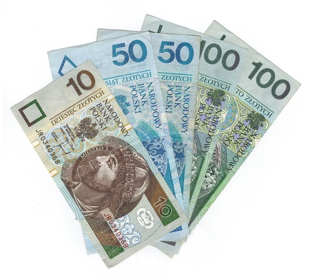 Polish zloty PLN currency form Poland - banknotes Stock Photo