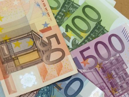 Euro  EUR  banknotes - legal tender of the European Union Stock Photo - 18339610